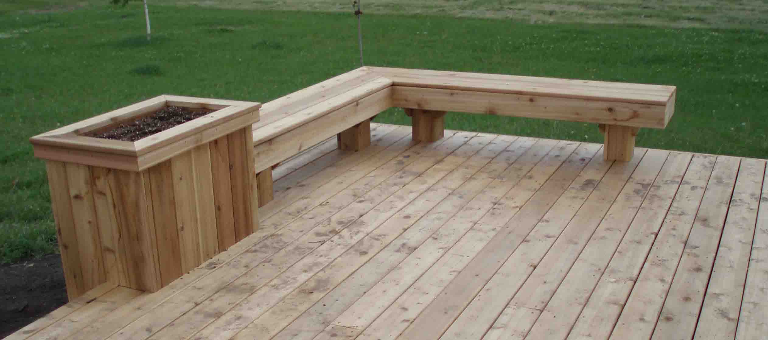 Cedar Deck Designs On Pinterest Deck Benches Cedar Deck And Decks