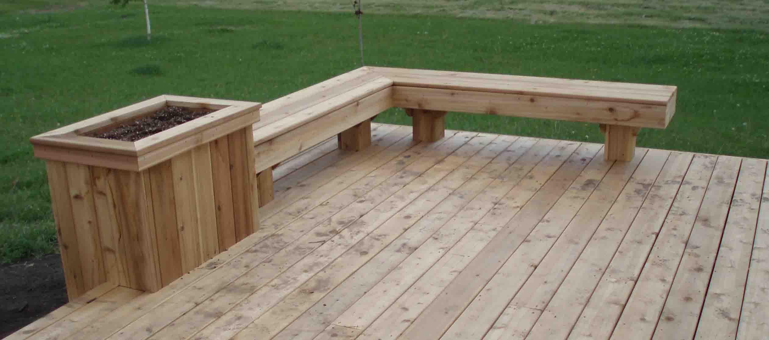 Cedar Deck Designs On Pinterest Deck Benches Cedar Deck